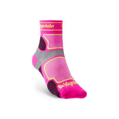 Ponožky Bridgedale TRAIL RUN UL T2 CS 3/4 CREW WQUEEN OF DARKNESS'S Pink/305, bridgedale