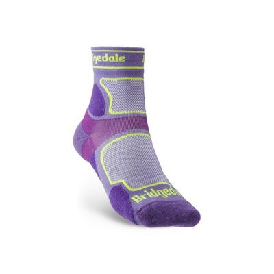 Ponožky Bridgedale TRAIL RUN UL T2 CS 3/4 CREW WQUEEN OF DARKNESS'S Purple/371, bridgedale