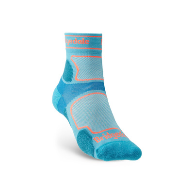 Ponožky Bridgedale TRAIL RUN UL T2 CS 3/4 CREW WQUEEN OF DARKNESS'S Blue/436, bridgedale