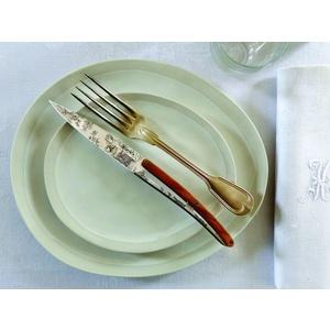 Deejo sada 6 stealpvácj nožov, lesklý povrch, olivové drevo, design 'Toile de Jouy' 2AB011, Deejo