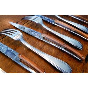 Deejo sada 6 stealpvácj nožov, lesklý povrch, olivové drevo, design 'Art déco' 2AB012, Deejo