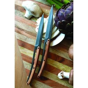 Deejo sada 6 steakových nožov, titánový povrch čepele, olivové drevo 2FB001, Deejo