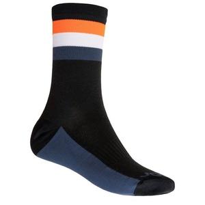 Ponožky Sensor COOLMAX SUMMER STRIPE čierna/oranžová 20100039