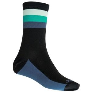 Ponožky Sensor COOLMAX SUMMER STRIPE čierna/zelená 20100040