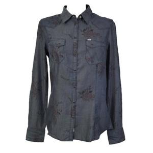 Košeľa Wrangler Sammy western Dress blue, Wrangler