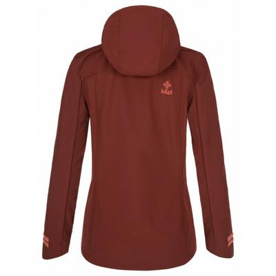 Dámska softshellová bunda Kilpi RAVIA-W tmavo červená, Kilpi
