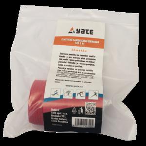 Elastické samofixační ovínadlo Yate set 3 ks (2,5 cm x 4,5 m), Yate