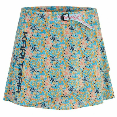Dámska športová sukňa s integrovanými šortkami Kari Traa Signe skort 622803, modrá