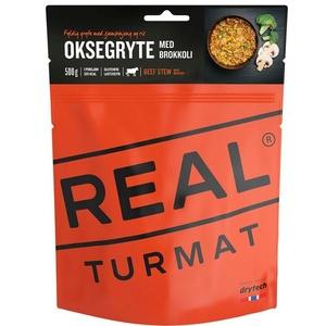 Real Turmat dusené hovädzie s ryžou a brokolicou, 120 g, Real Turmat
