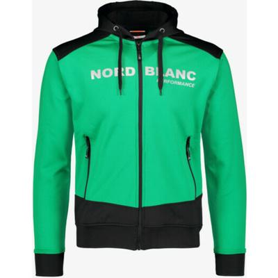 Pánska športové mikina Nordblanc s kapucňou NBSMS5615_ZLN, Nordblanc