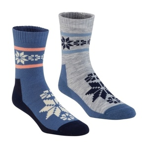 Ponožky Kari Traa Rusa WOOL SOCK 2PK Denim, Kari Traa