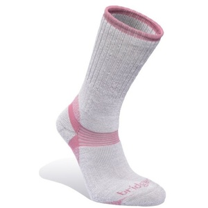 Ponožky Bridgedale Merino Hiker Women's grey/pink/808