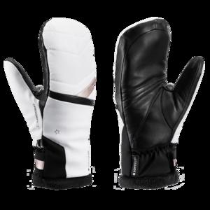 Lyžiarske rukavice LEKI Snowfox 3D Lady Mitt white / gold, Leki