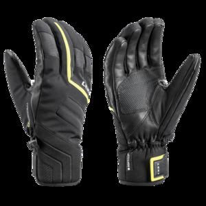 Lyžiarske rukavice LEKI Falcon 3D black / lime, Leki