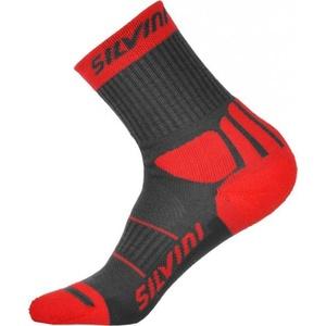 Ponožky Silvini Vallonga UA522 charcoal-red, Silvini