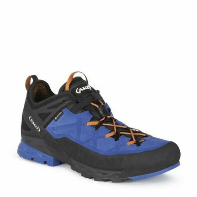 Pánske Topánky AKU Rock Dfs GTX modro / oranžová, AKU