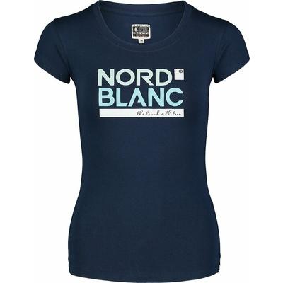 Dámske bavlnené tričko NORDBLANC Ynud modrá NBSLT7387_MOB, Nordblanc