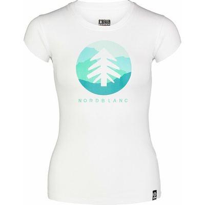 Dámske bavlnené tričko NORDBLANC Suntre biela NBSLT7388_BLA, Nordblanc