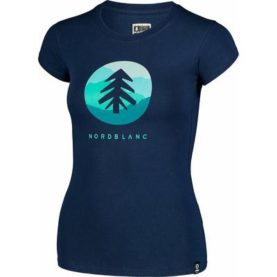 Dámske bavlnené tričko NORDBLANC Suntre modrá NBSLT7388_MOB, Nordblanc