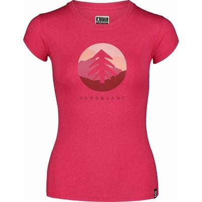 Dámske bavlnené tričko NORDBLANC Suntre ružová NBSLT7388_RZO, Nordblanc