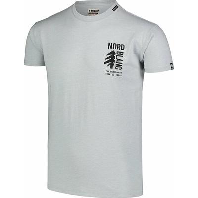 Pánske bavlnené tričko Nordblanc SARMY šedé NBSMT7390_SSM