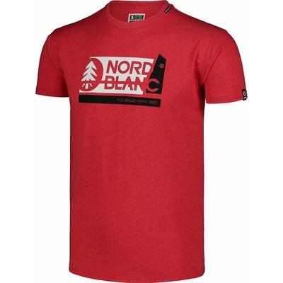 Pánske bavlnené tričko Nordblanc WAL LON čierne NBSMT7391_CRN, Nordblanc