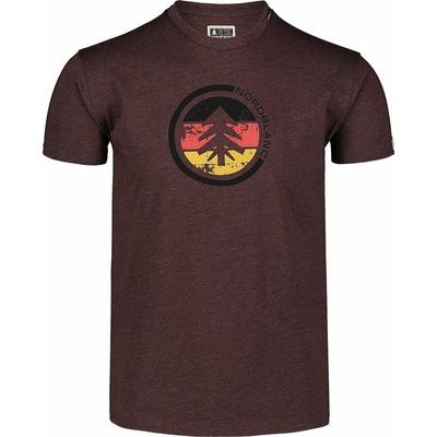 Pánske bavlnené tričko Nordblanc TRICOLOR hnedá NBSMT7397_RUH, Nordblanc