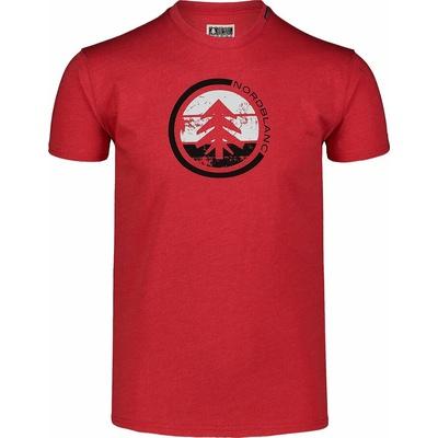 Pánske bavlnené tričko Nordblanc TRICOLOR červené NBSMT7397_TCV, Nordblanc
