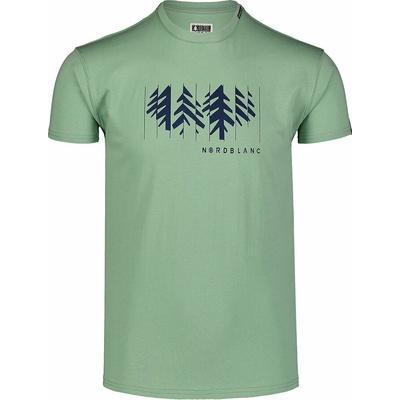 Pánske bavlnené tričko Nordblanc DEKONŠTRUKOVANÉ zelené NBSMT7398_PAZ, Nordblanc