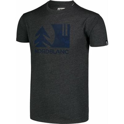 Pánske bavlnené tričko Nordblanc TREETOP čierna NBSMT7399_CEM, Nordblanc