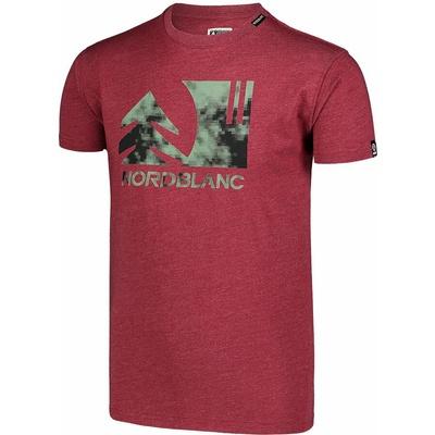 Pánske bavlnené tričko Nordblanc TREETOP vínovej NBSMT7399_HCA, Nordblanc