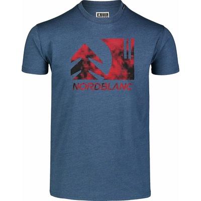 Pánske bavlnené tričko Nordblanc TREETOP modré NBSMT7399_SRM, Nordblanc