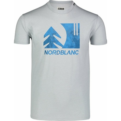 Pánske bavlnené tričko Nordblanc TREETOP šedé NBSMT7399_SSM, Nordblanc