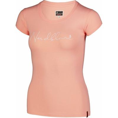 Dámske bavlnené tričko NORDBLANC Kaligrafia oranžová NBSLT7400_JME, Nordblanc