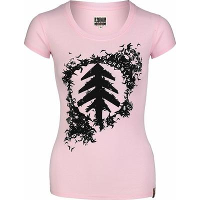 Dámske bavlnené tričko NORDBLANC Flock ružová NBSLT7401_RUT, Nordblanc