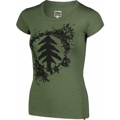 Dámske bavlnené tričko NORDBLANC Flock zelená NBSLT7401_ZSA, Nordblanc