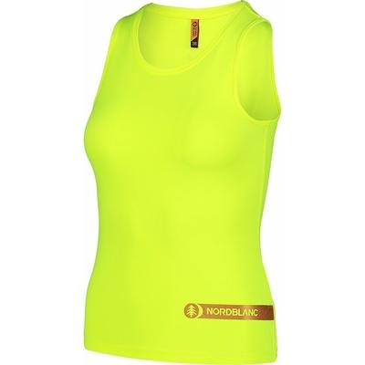 Dámske fitness tielko Nordblanc Aero žlté NBSLF7447_BPZ, Nordblanc