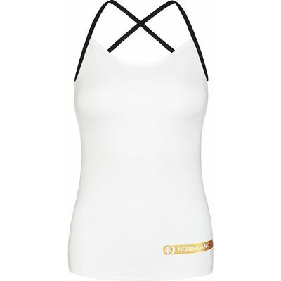 Dámske fitness tielko Nordblanc Strappy biele NBSLF7449_BLA, Nordblanc