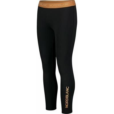 Dámske fitness legíny Nordblanc flexibility čierno-oranžová NBSPL7454_CRN, Nordblanc