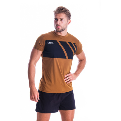 Pánske tričko Nordblanc Legacy hnedé NBSMF7458_PUH, Nordblanc