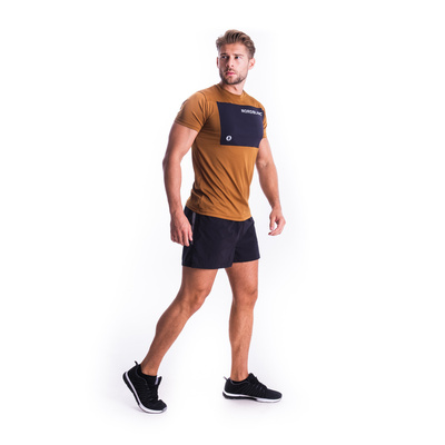 Pánske fitness tričko Nordblanc Grow hnedé NBSMF7460_PUH, Nordblanc
