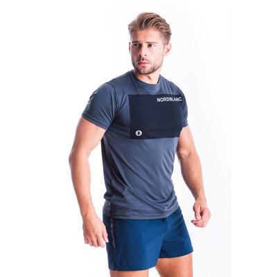 Pánske fitness tričko Nordblanc Grow modré NBSMF7460_SRM, Nordblanc