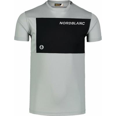 Pánske fitness tričko Nordblanc Grow šedé NBSMF7460_SSM