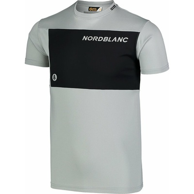 Pánske fitness tričko Nordblanc Grow šedé NBSMF7460_SSM, Nordblanc