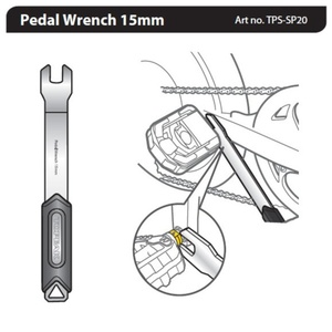 Kľúč Topeak Pedal Wrench 15mm TPS-SP20, Topeak