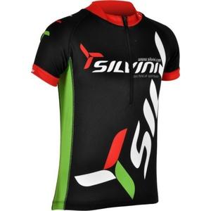 Detský cyklistický dres Silvini Team CD403 black, Silvini