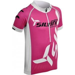 Detský cyklistický dres Silvini Team CD403 fuchsia, Silvini