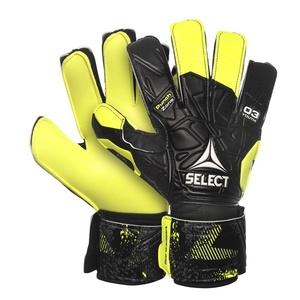 Brankárske rukavice Select GK gloves 03 Youth Flat cut čierno žltá, Select
