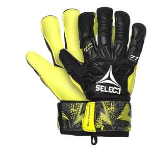 Brankárske rukavice Select GK gloves 77 Super Grip Hyla cut čierno žltá, Select