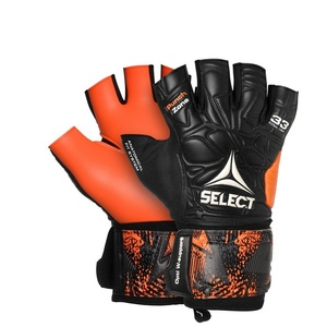 Brankárske rukavice Select GK gloves Futsal liga 33 Negative Cut čierno oranžová